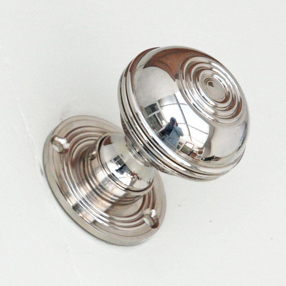 Nickel Regency Style Door Knobs With Circular Ring Detail | Lounge ...