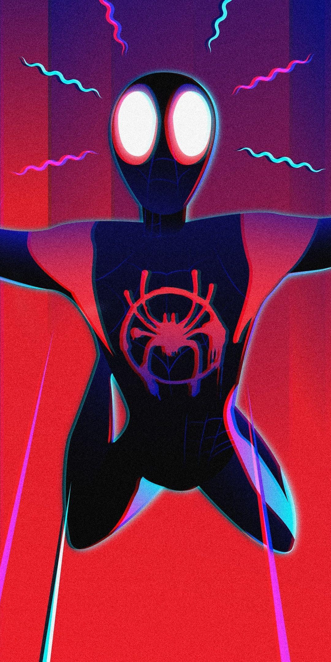 Spider Verse Superhero Spider Man Jump Art 1080x2160