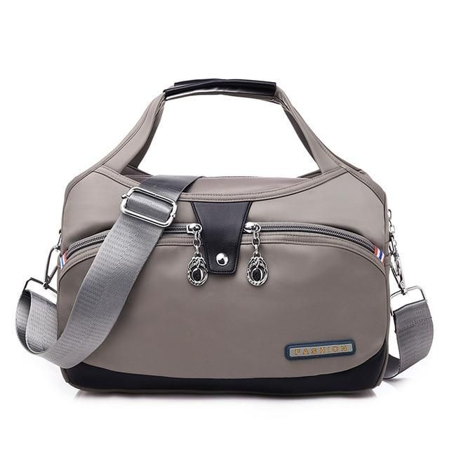 Photo of Nylon Large Women Messenger Bags Ladies Handbags Waterproof Female Shoulder Bags Designer High Quality Crossbody Bags For Women – Gray China (20cm