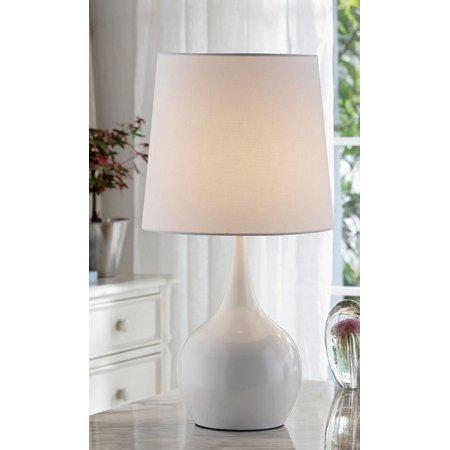 23 5 Niyor Powder White Mid Century Modern Touch On Metal Table Lamp Walmart Com Mid Century Modern Table Lamps Metal Table Lamps Table Lamp