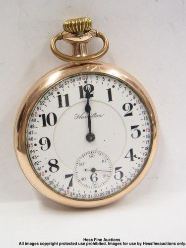 16S Hamilton Special 992 Double Roller Antique Running Mens Pocket Watch