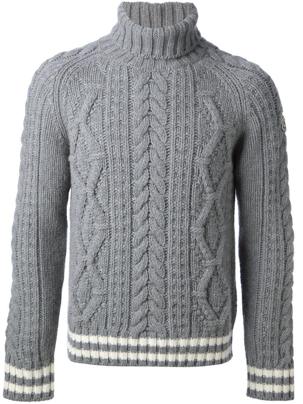 6e3344ad75f3 MONCLER Aran Knit Sweater ◊ FARFETCH