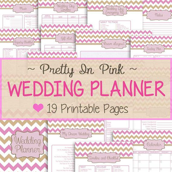 Free Printable Wedding Planner Templates 19 Pages Pretty In Pink