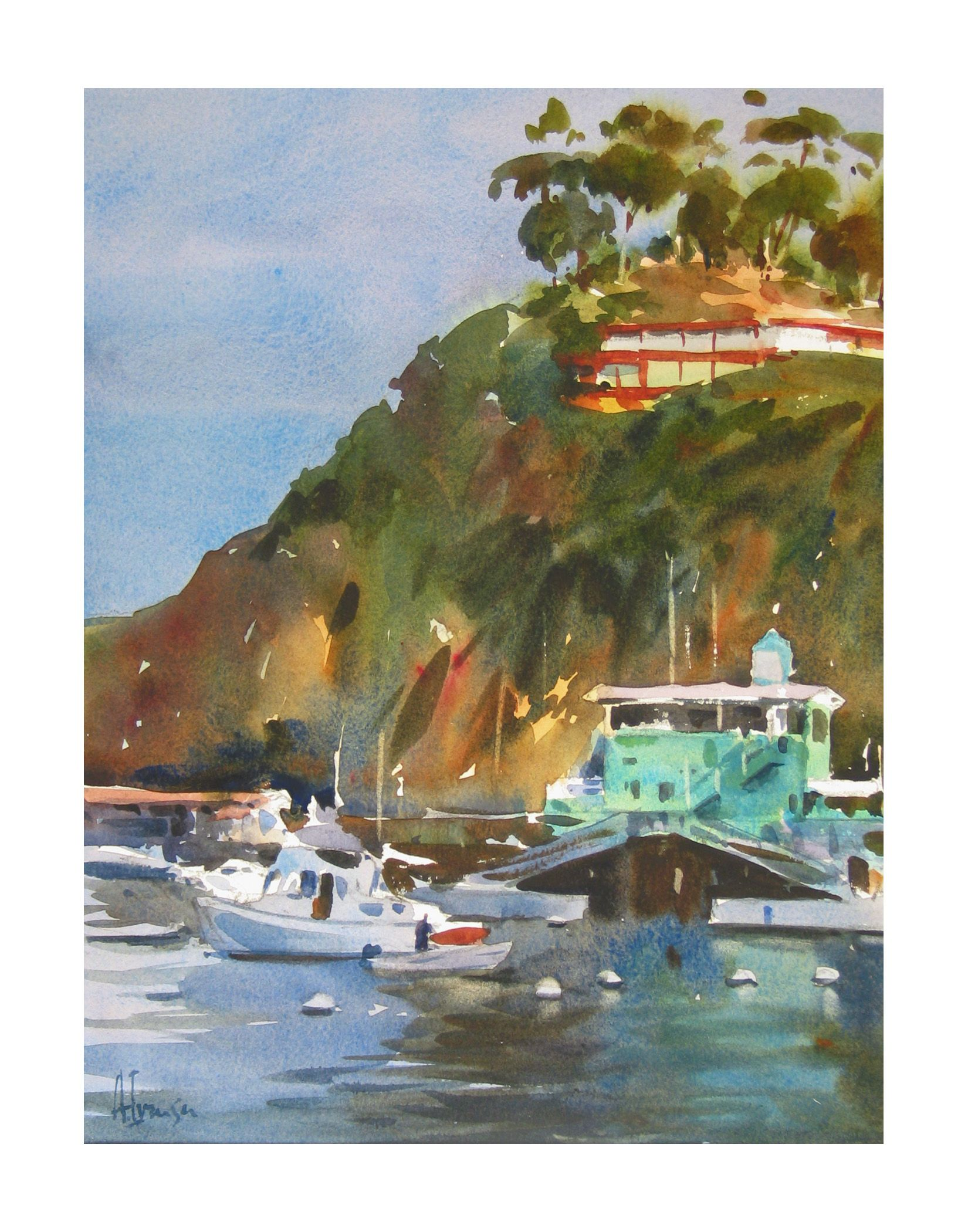 Watercolor artist magazine palm coast fl - Last Light Avalon Listen To Andy Evansen Talk About How He Built His Watercolor Painting