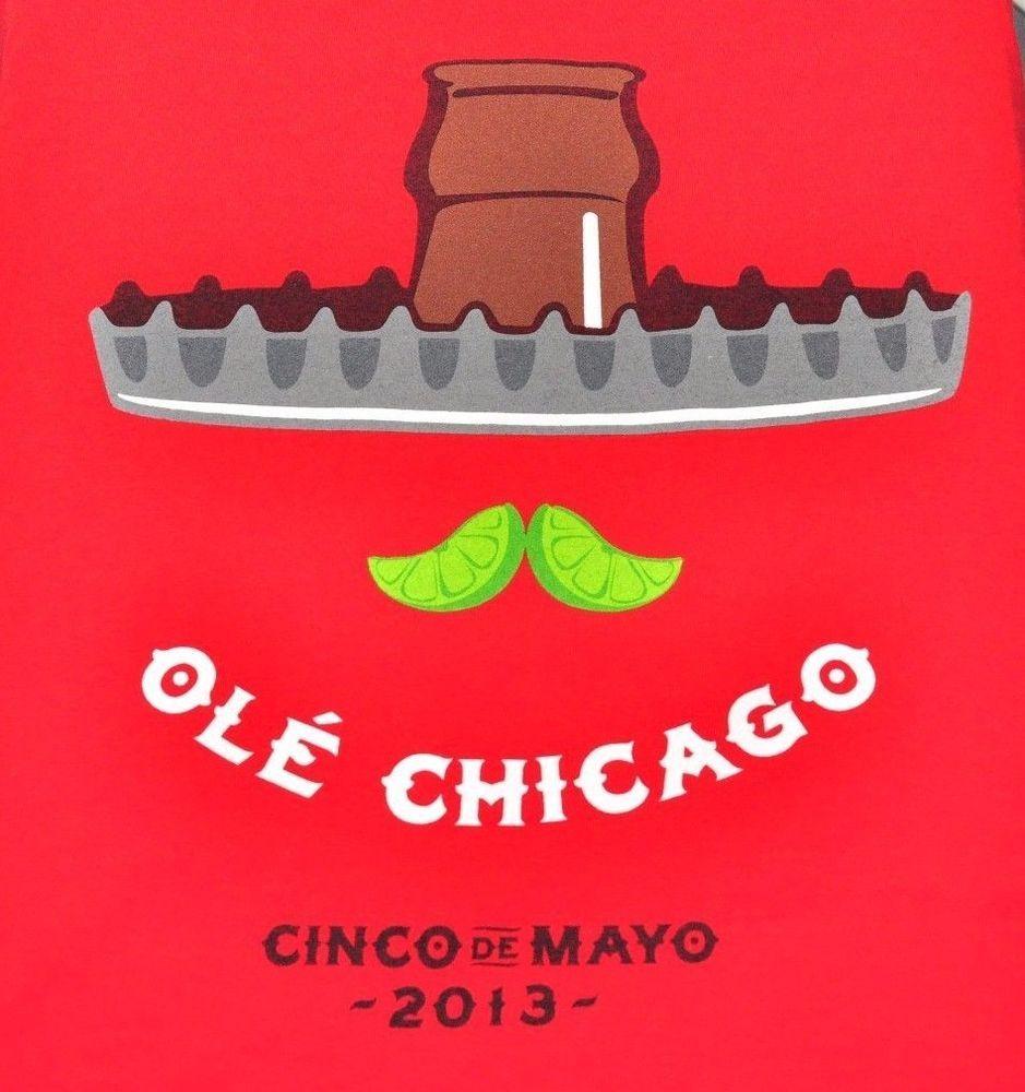 Old Chicago pizza Mini Tour Cinco De Mayo Men's XL 2013 Extra Large Red T-Shirt  #Gildan #GraphicTee
