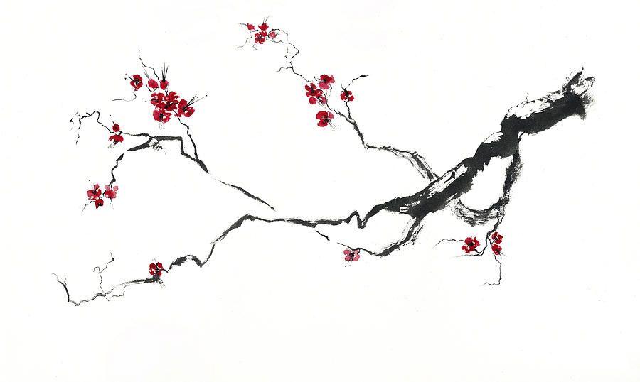 Cherry Blossom By Jitka Krause Cherry Blossom Art Cherry Blossom Painting Japanese Cherry Blossom