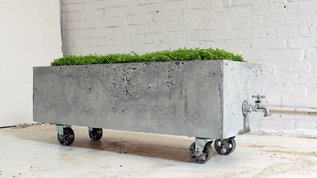 Cool Concrete Trough Planter DIY Beton Design, Gartendeko Aus Beton, Garten  Fliesen, Betonbau