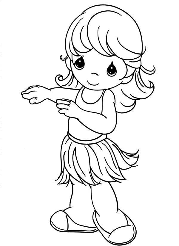 Precious Moments Hula Girl Coloring Pages | Coloring Sky | precious ...