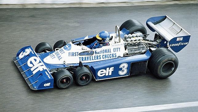 1977 Elf Team Tyrrell Ford F1 レースカー 自動車レース