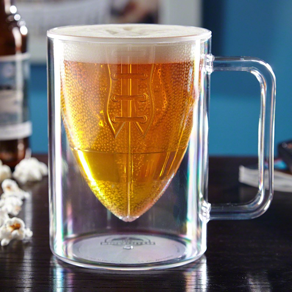 Sitting down to watch the big game just seems incomplete without beer in hand. Pour your favorite brews into our Touchdown football mug for the ultimate game watching experience. Crafted from scratch...