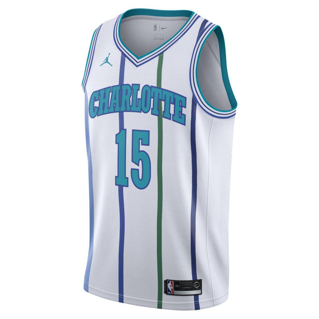 5b1cd4df41f Kemba Walker Classic Edition Swingman (Charlotte Hornets) Men's Jordan NBA  Connected Jersey Size 3XL (White)