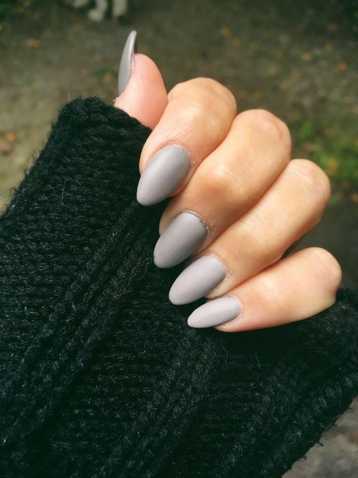 Gray Nails Fall Fallnails Grey Matte Nails Unique Acrylic Nails Grey Acrylic Nails