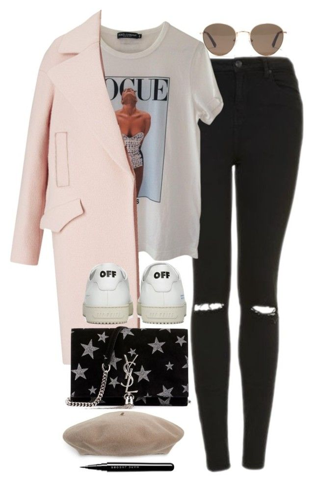 """""""Untitled #2079"""" by roxy-camarena on Polyvore featuring Topshop, Dolce&Gabbana, Off-White, Yves Saint Laurent, Madewell, Gucci and Marc Jacobs"""