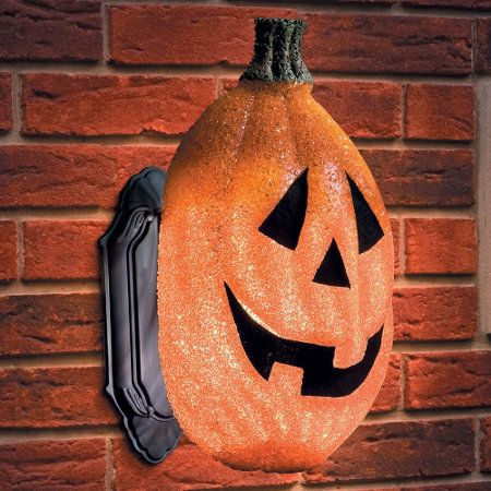Use Pumpkin Porch Light Covers To Give Your Entranceway An Instant Touch Of Halloween Pizzazz They Have Elas Porch Light Covers Porch Pumpkins Porch Lighting