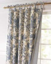 Toile Linens Toile Reversible Curtain love the idea of reversible lined drapes  ...