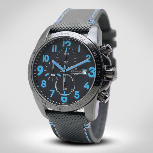 BLACK CHRONOGRAPH BLUE €230
