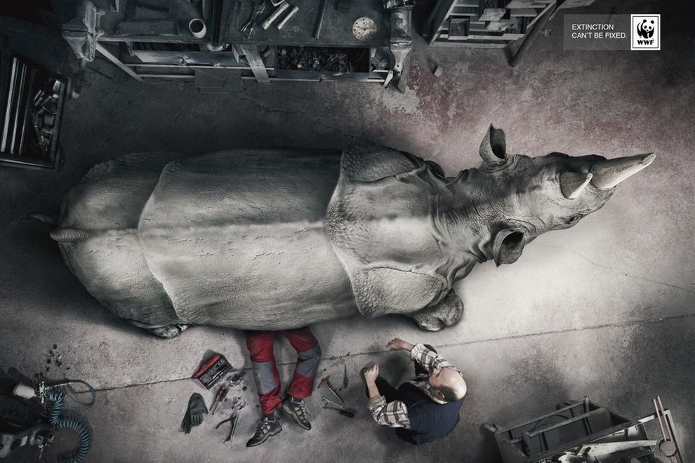 The Most Powerful Ads Of The World Wildlife Fund Ad Of The World Save The Rhino Creative Advertising