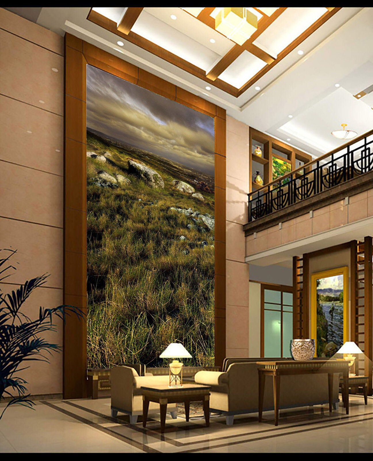 3D Prairie Sky Natural Beauty418Removable Wallpaper Self