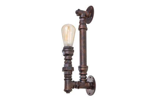 Vintage industriel de steampunk applique murale lampe industrielle