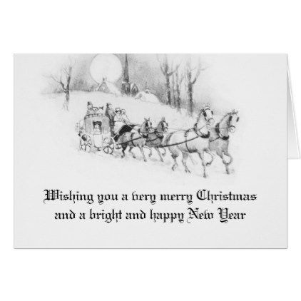 Vintage Victorian Christmas White Snowy Holiday Card - antique gifts ...