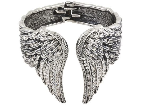 2 Angel wing charms black tone AW56