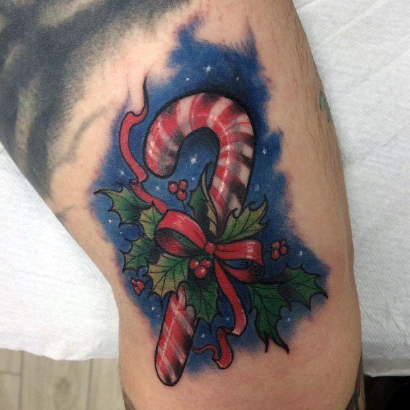 80 Christmas Tattoos For Men - Xmas Holiday Design Ideas