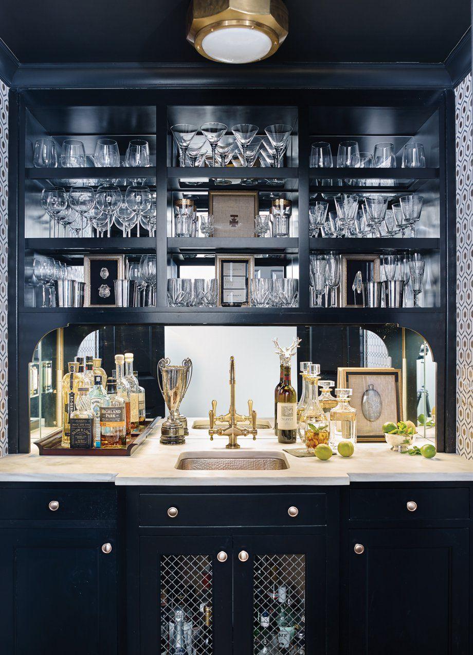 Room Envy A Hallway Turned Stunning Bar Atlanta Magazine Modern Home Bar Home Bar Decor Home Bar Designs