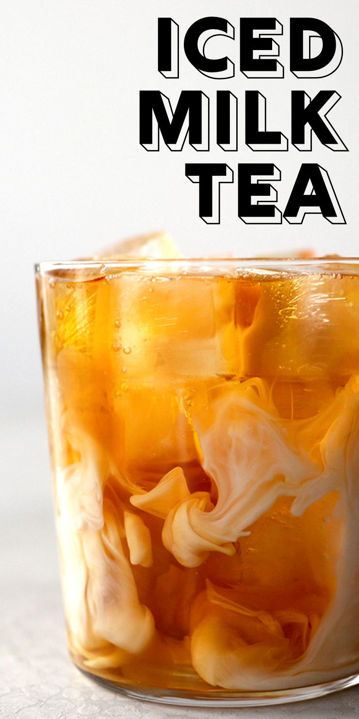 A Refreshing Iced Milk Tea Made With Black Tea Sweetened Condensed Milk And Half Half It S Sweet Creamy Tea Drink Recipes Milk Tea Flavored Tea Recipes