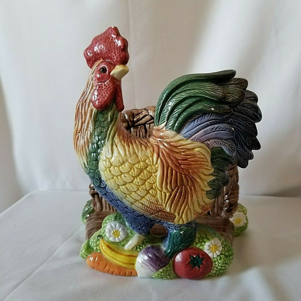 Decorative Rooster Napkin Holder Stand Sculpture for Figurines Farm /& Country
