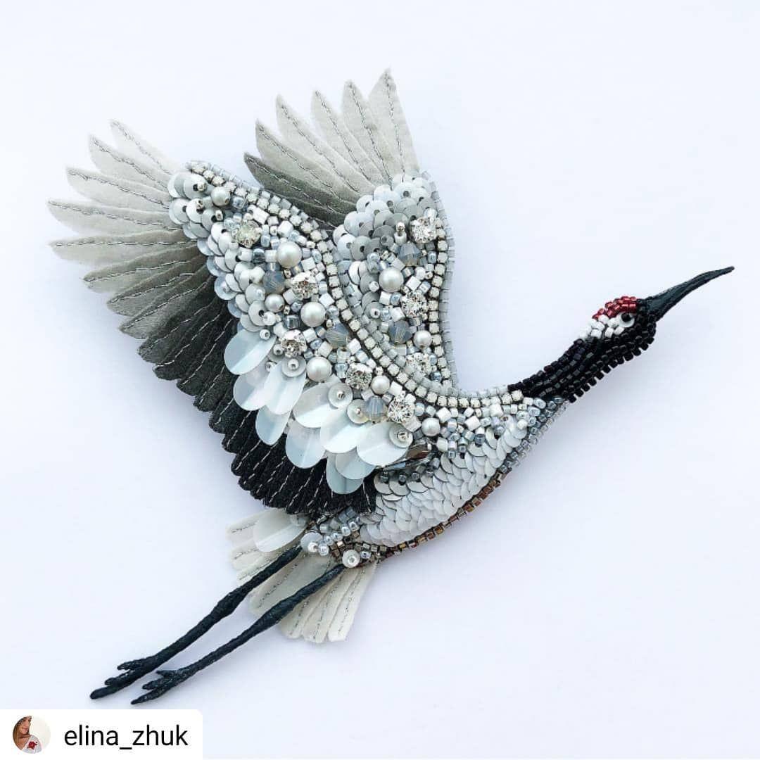4660d85f4 Журавль может быть не только в небе, но и в руках🤲🏻   Изделия своими  руками и Ремесла   Handmade Jewelry