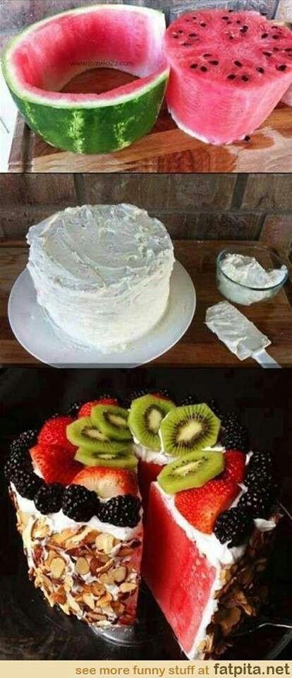 Watermelon healthy cake