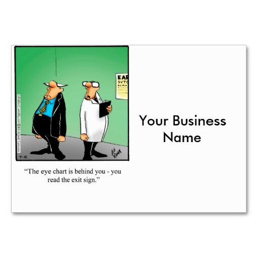 Eye Doctor Humorous Business Cards Make your own business card - eye chart template