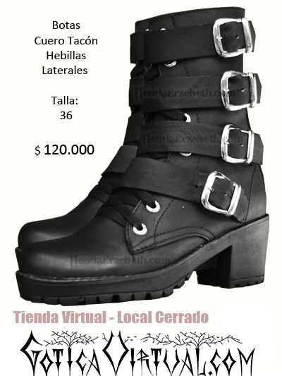 botas rockeras dama rock clan metaleras con hebillas cuero tacon suela alta bogota  tienda online bogota medellin cali manizales pereira f33878345a1