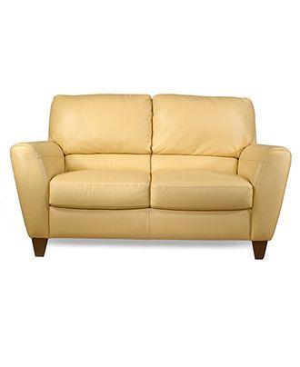 Almafi Leather Loveseat 63 W X 38 D X 36 H Furniture Macy S