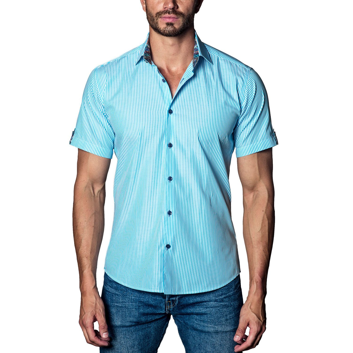 Flannel shirts yes or no  Striped Woven ButtonUp  Blue  Men Fashion  Pinterest
