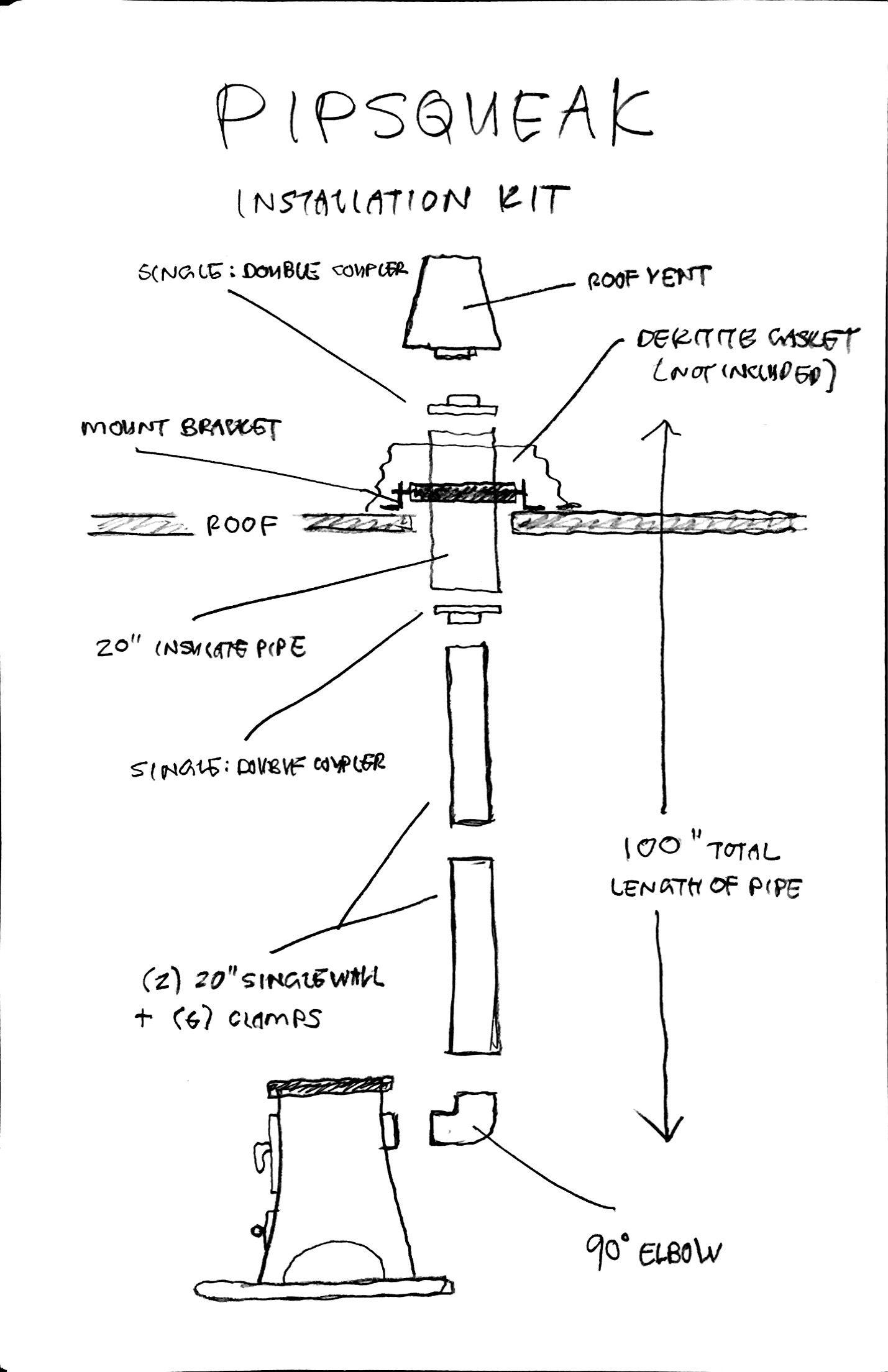 Wood Stove Pipe Kit | WB Designs