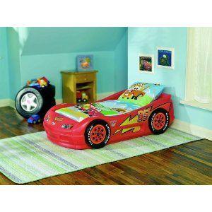 Tikes Lightning Mcqueen Roadster Toddler Car Bed   Car