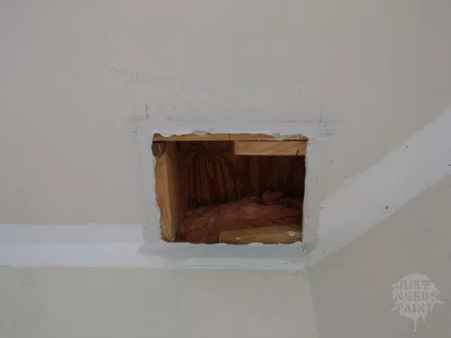 How To Make An Invisible Drywall Patch Just Needs Paint How To Patch Drywall Drywall Mud Drywall