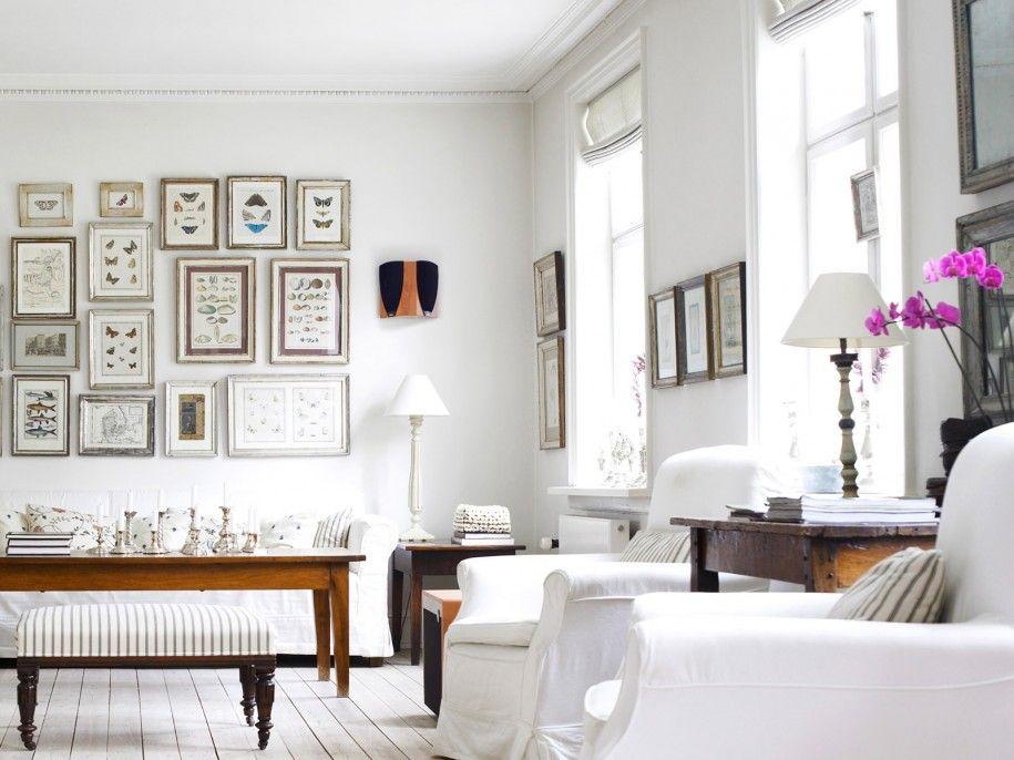 Witte brocante woonkamer Ideeën voor het huis Pinterest