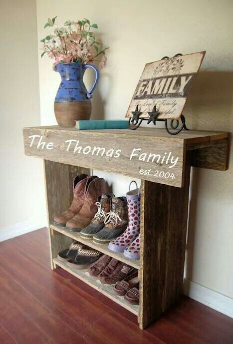 Sofa Table Shoe Rack