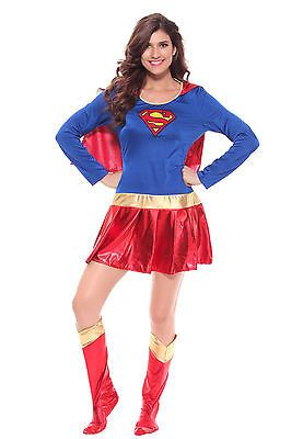 Supergirl Costume Adult Superwoman Halloween Fancy Dress