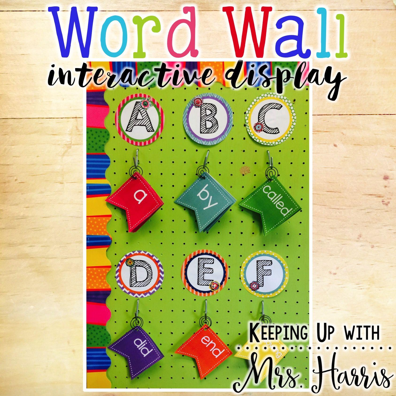 Interactive Word Wall - EDITABLE! | Classroom Makeover | Interactive