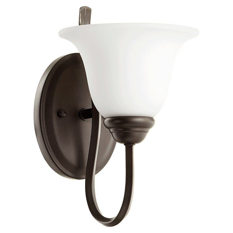 Photo of Quorum 5510-1-186 Spencer Single-Light Bathroom Wall Sconce