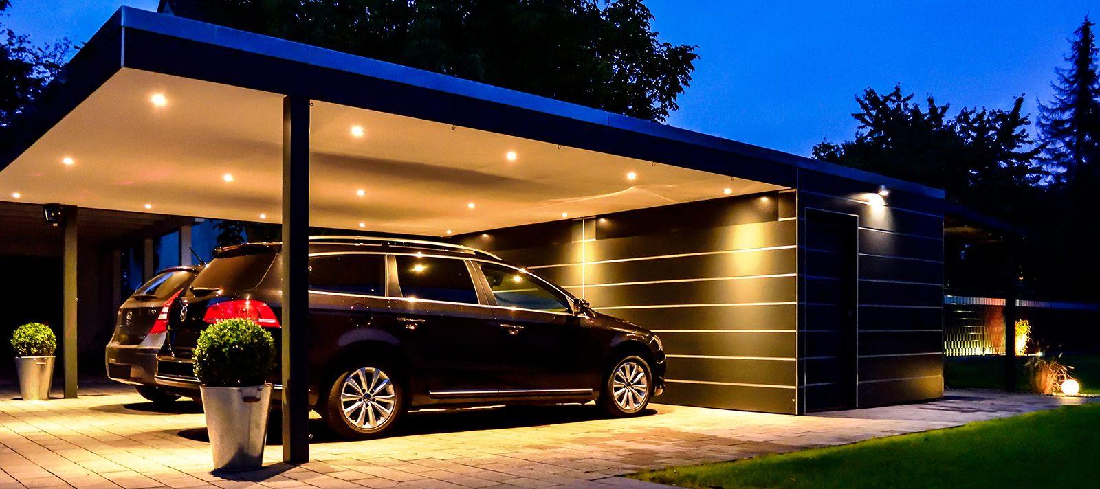 Carport Bauhaus Hpl Pfiff Carports Carport Hus Framsidor Und