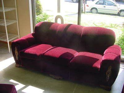 Vintage Sears Dubonnet Elmwood Mohair Sofa Used Ebay