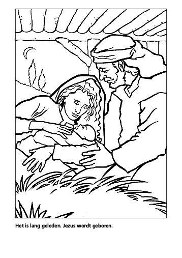 Jezus wordt geboren in een stalletje.