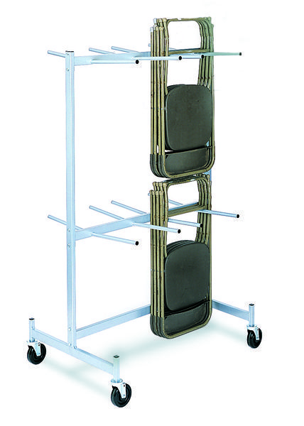 Compact Universal Heavy Duty Folding Chair Transport Dolly   45 Chair  Capacity