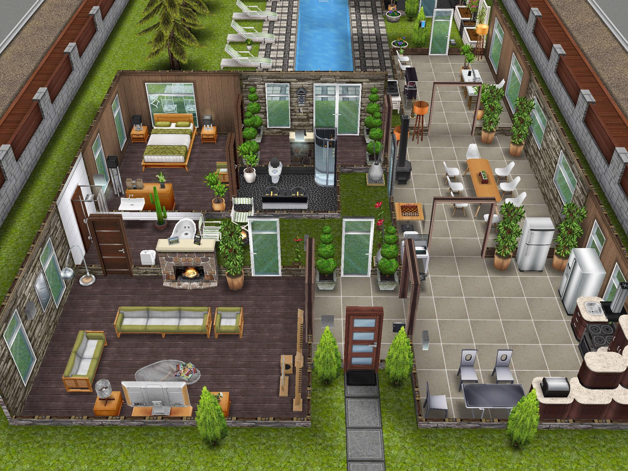 Variation on Scandinavian House #thesims #simsfreeplay | Sims ...