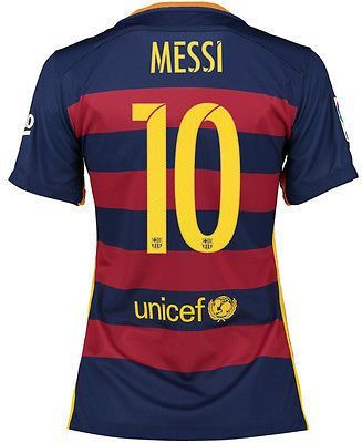807562bbc4234 NIKE L. MESSI FC BARCELONA WOMENS HOME JERSEY 2015 16 FOOTBALL LA LIGA  SPAIN.