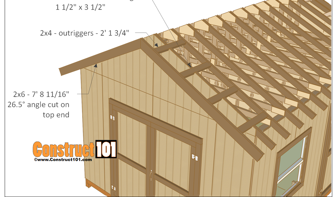12x16 Shed Plans Gable Design Construct101 12x16 Gable Storage Shed Plans With Roll Up Shed Door Sheds 12x16 Gamb In 2020 Building A Shed Shed Plans Diy Shed Plans